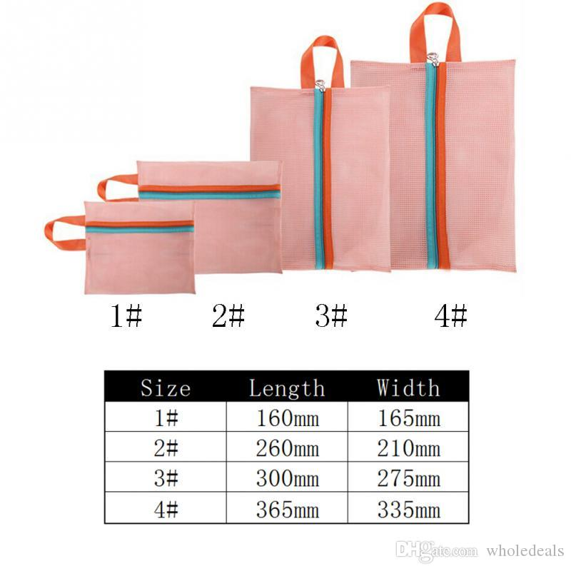 Travel Storage Bag Portable Travel Mesh Bag Case Toiletry Clothes Underwear Hanging Storage Bag Organizer Pouch New
