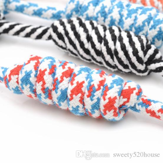 Hot Sale Pet Toys For Large Dogs Puppy Cat Resistant to Bite Cotton Rope Knots Chew Molar Toy Pet Training Accessories Supplies