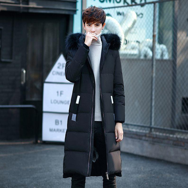 29d2f8caa 2019 New Winter Winter Jackets Men Down Jacket Fashion Korean Long ...