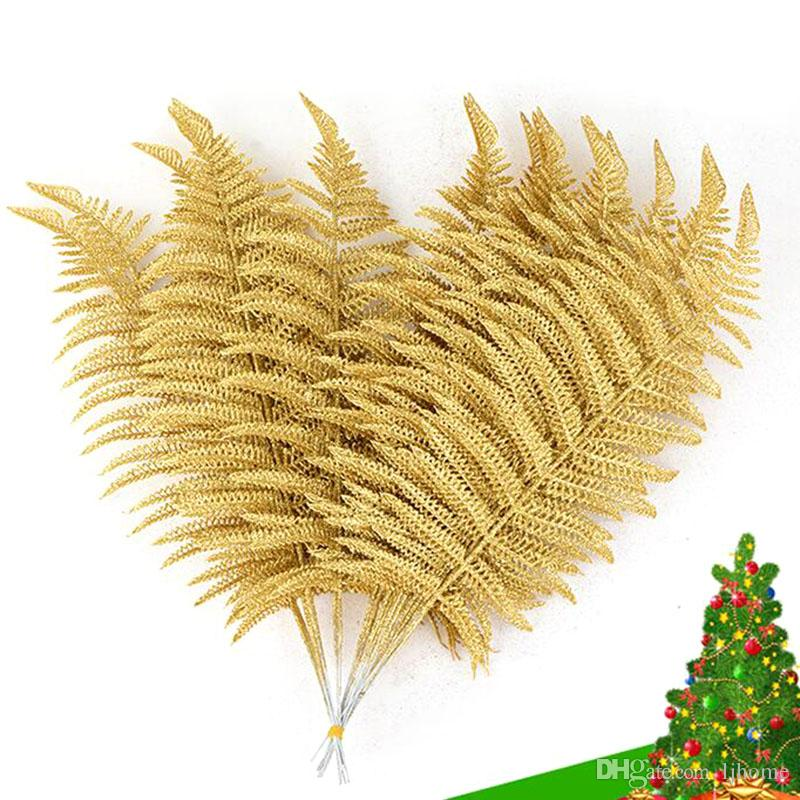 2019 New 40cm Christmas Decoration Gift Gold Leaf Christmas Tree
