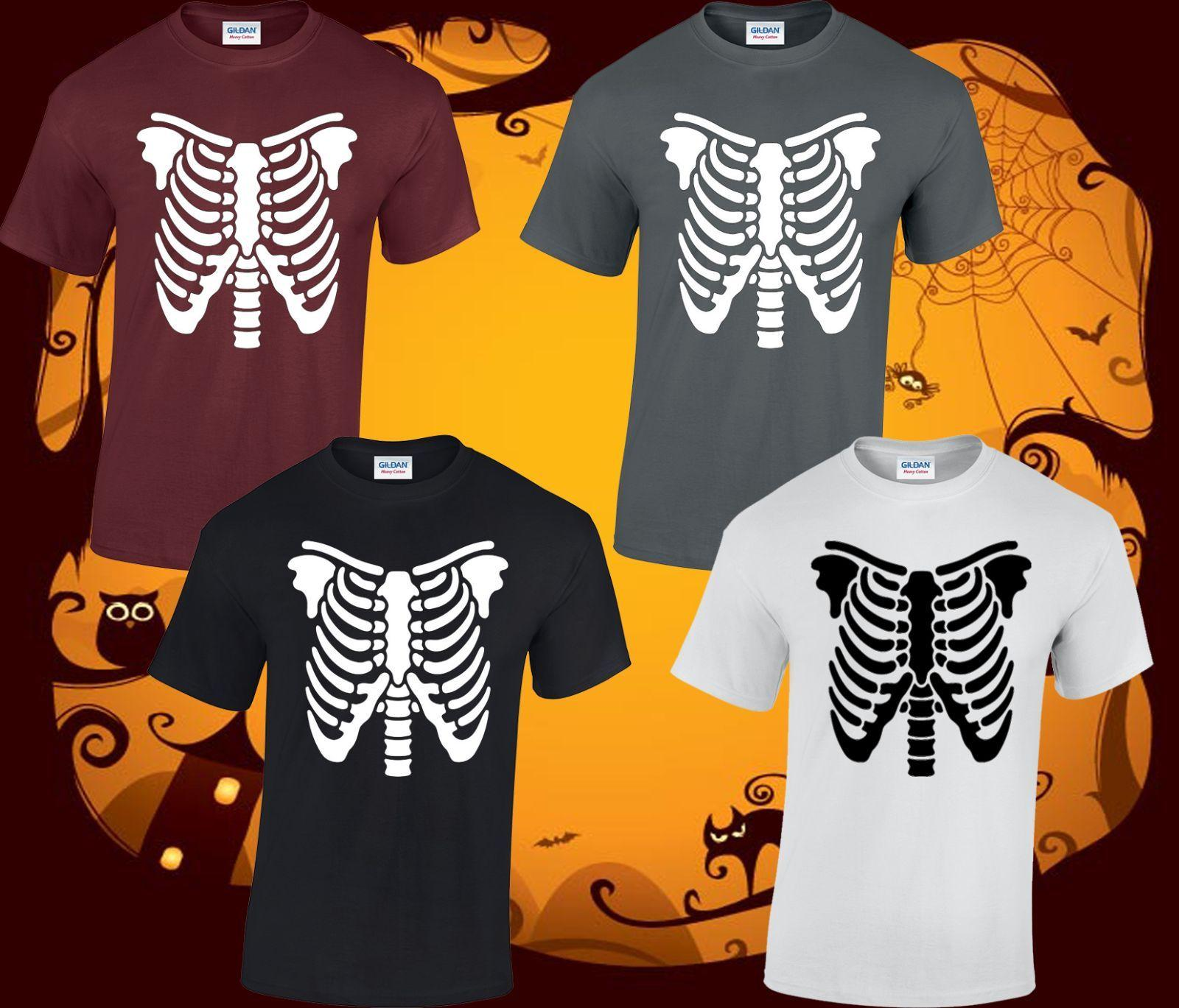 93bcf434262 Skeleton Mens T Shirt Halloween Costume Top Scary Fancy Dress Funny S 3XL  Cool Casual Pride T Shirt Men Funny Team Shirts Trendy T Shirts For Men From  ...