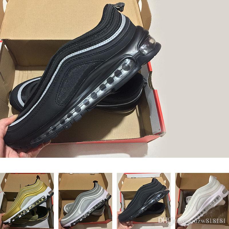 OG Triple blanco metalizado oro plata bala Mejor calidad BLANCO 3M Premium zapatillas hombre mujeres Envío gratis