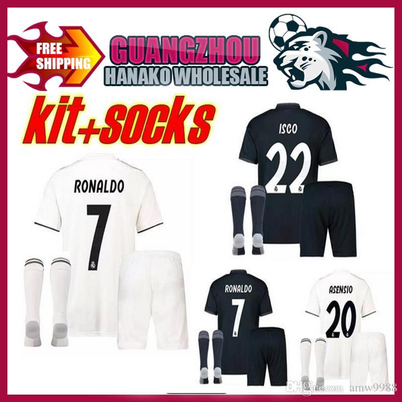 9d1ab84a3 18 19 Real Madrid ASENSIO Football Short Sleeve Kits Jersey 2018 ...