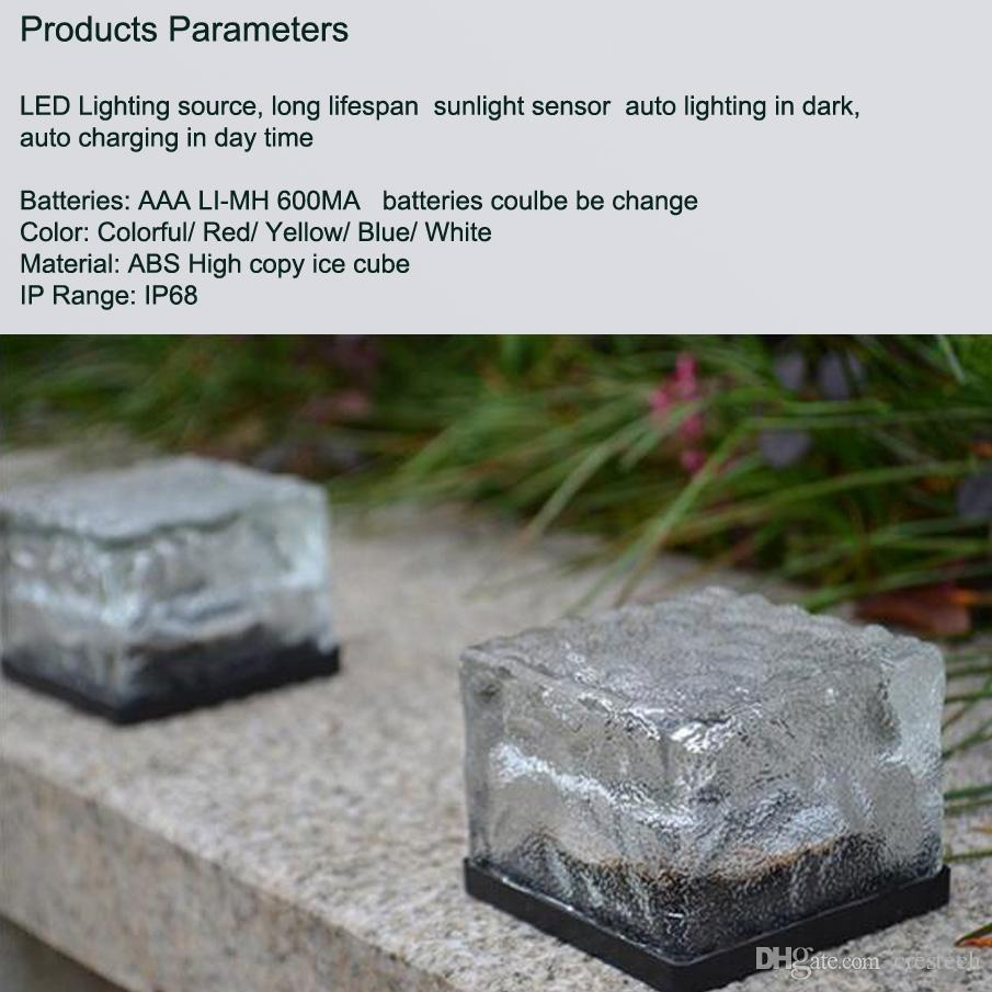 LED Garden solar Ice cube lights LED Solar energy underground solar lights underground lamp lighting sensor