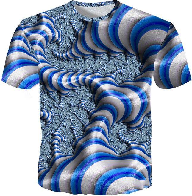 0d38edcfe814 2018 Summer T Shirt Men 3d Printed Cool Geometry T Shirt Men Fashion ...