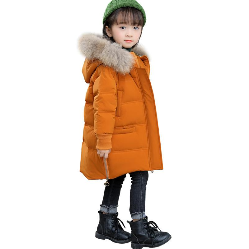 cdb34c049 Girls Winter Jacket Down Coat Kids Toddler Winter Coat Toddler Baby Choses  2018 Outerwear Coats