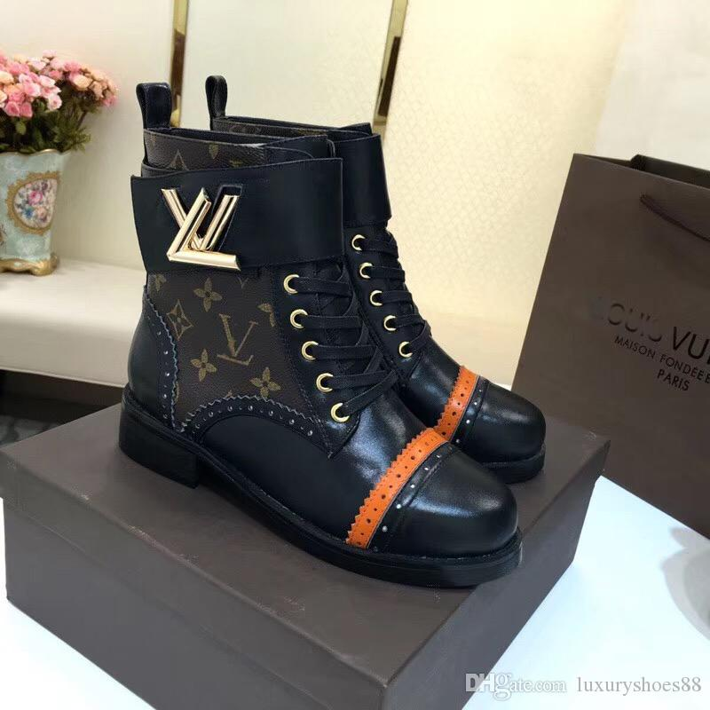2018 Fashion New Womens Knight Boots Platform Ankle Boots Printing