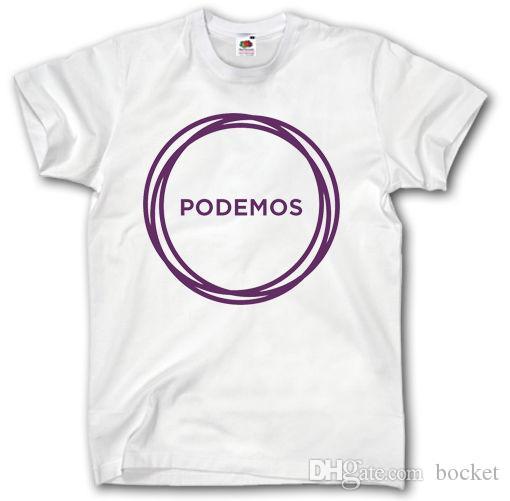 8998565c PODEMOS T-SHIRT S-XXXL Left Wing Political Party Spain Espana Pablo  Iglesias T Shirt T Shirts Summer Online with $14.88/Piece on Bocket's Store  | DHgate.com