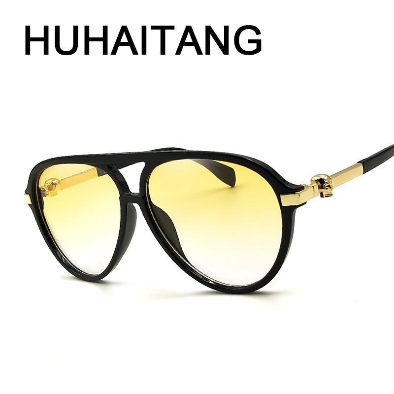 ffb8a3f55e543a Acheter Huhaitang New Crâne Lunettes De Soleil Hommes 2018 Vintage Haute  Qualité Skull Sun Lunettes Pour Femmes Uv400 Marque Designer Lunettes De   10.34 Du ...