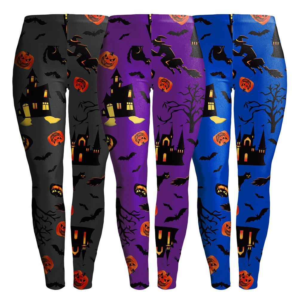 44e5dc4b7342e 2019 Women Yogan Pants Halloween Pumpkin Witch Bat Ghost Light Print Yoga  Leggings Trousers Running Training Pants From Pothos, $24.5   DHgate.Com