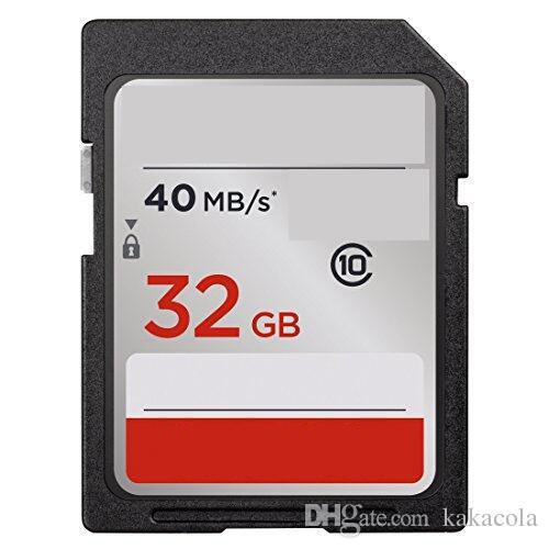 2020 뜨거운 판매 32 기가 바이트 64 기가 바이트 128 기가 바이트 200 그램 256 그램 C10 80mbps UHS-I SD 80MBs 메모리 큰 SD 카드 촬영 카메라 캠코더 소매 패키지