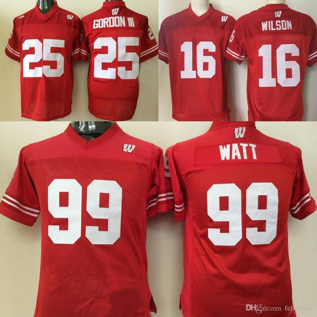 quality design 61f2d 85931 jj watt wisconsin jersey