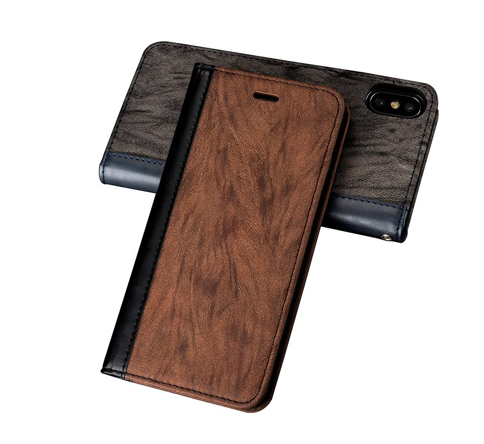 Wholesale Custom Leather Mobile Cell Phone Case With Credit Card Holder for iPhone 6 7 Plus 8 Plus Wallet Card Slot case phone cover
