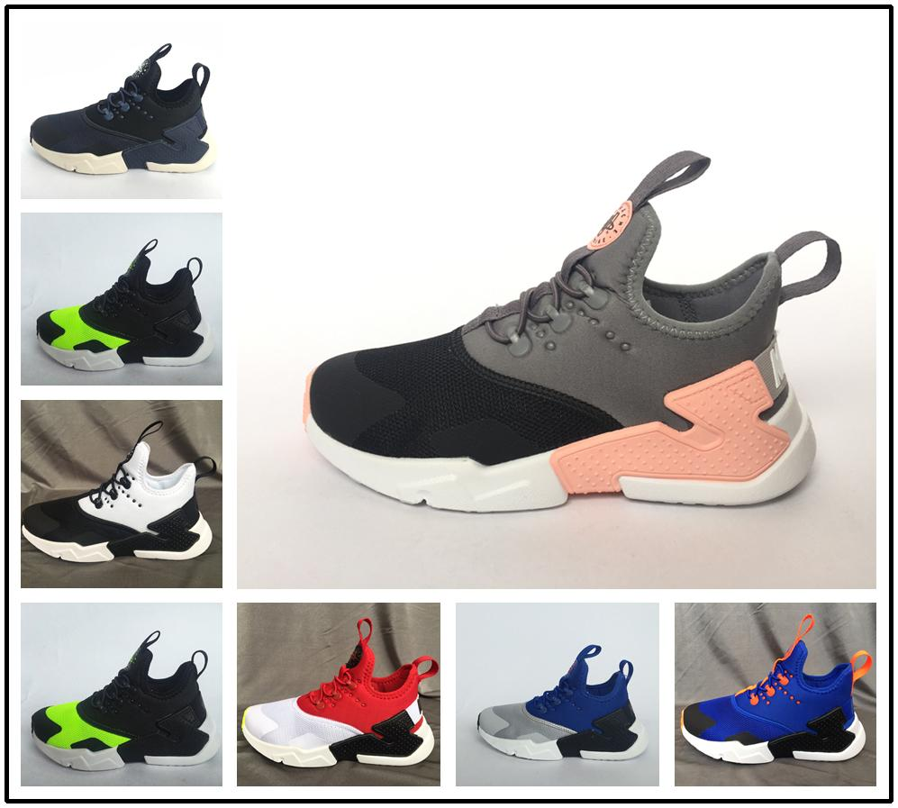 a8644aa64f515 2018 New Children Air Huarache IV 4.0 Ultra Running Shoes Huraches Boys  Girls Shoes Baby Kids Triple Huaraches Sneakers Youth Shoes Kids Athletic  Shoes On ...