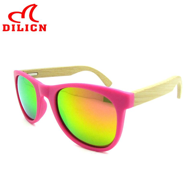 e81fc20ccd Hot Rays Children Real Bamboo Wood Kids Sunglasses Boys Girls Mirror ...