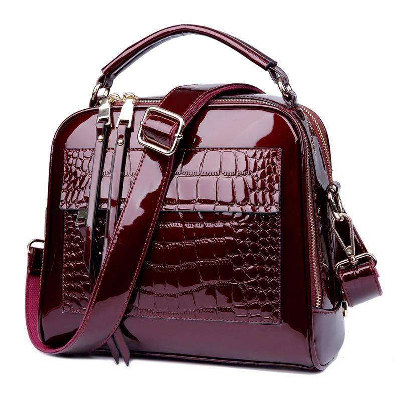 Wholesale Luxury Famous Brand Luxury Handbags Women Bags Designer Black  Patent Leather Handbag Blue Shell Simple Bag Designs Crossbody Bag Black  Handbags ... b787253ed4b20