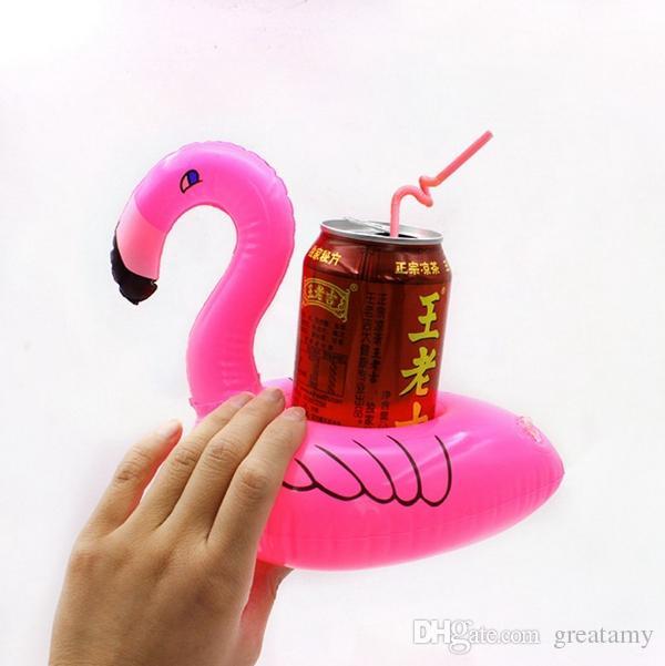 elegante carino gonfiabile ciambella frutta flamingo mini geometrica galleggiante piscina surf estate sottobicchieri bevande spedizione gratuita