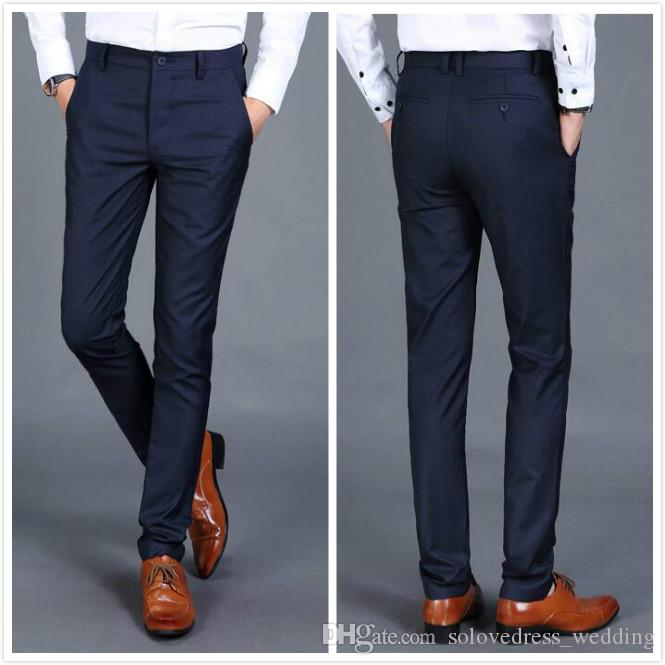 Smart Casual Formal Mens Suit Pants New Style High Quality Business