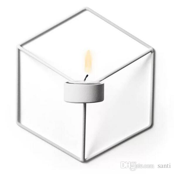 Visual Touch Nordic Style 3d Geometric Candlestick Metal Wall Candle