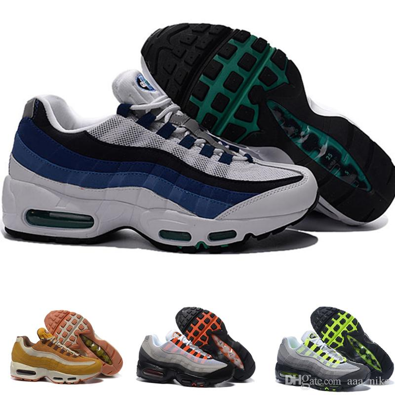 innovative design 5c261 b206d Acheter Nike Air Max 95 ESSENTIAL Airmax 95 2018 NOUVEAU Drop Shipping En  Gros Casual Chaussures Hommes Coussin 95 Sneakers Bottes Authentique  Chaussures De ...