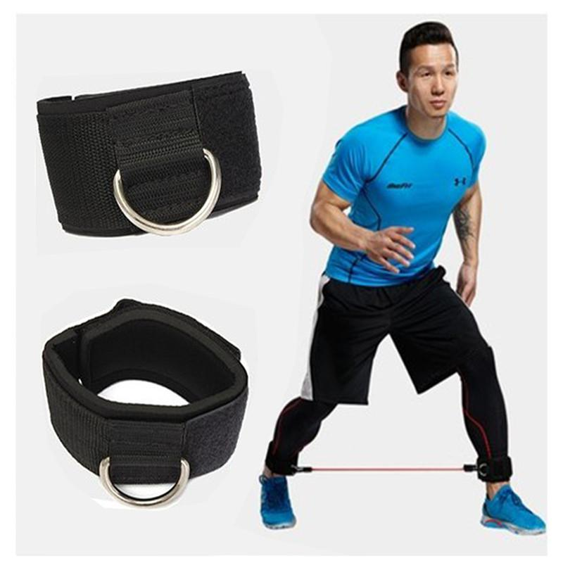 Sports Safety Fitness Adjustable D-ring Ankle Support Straps Foot Support Ankle Protector Gym Leg Pullery With Buckle Sports Feet Guard Sports Accessories