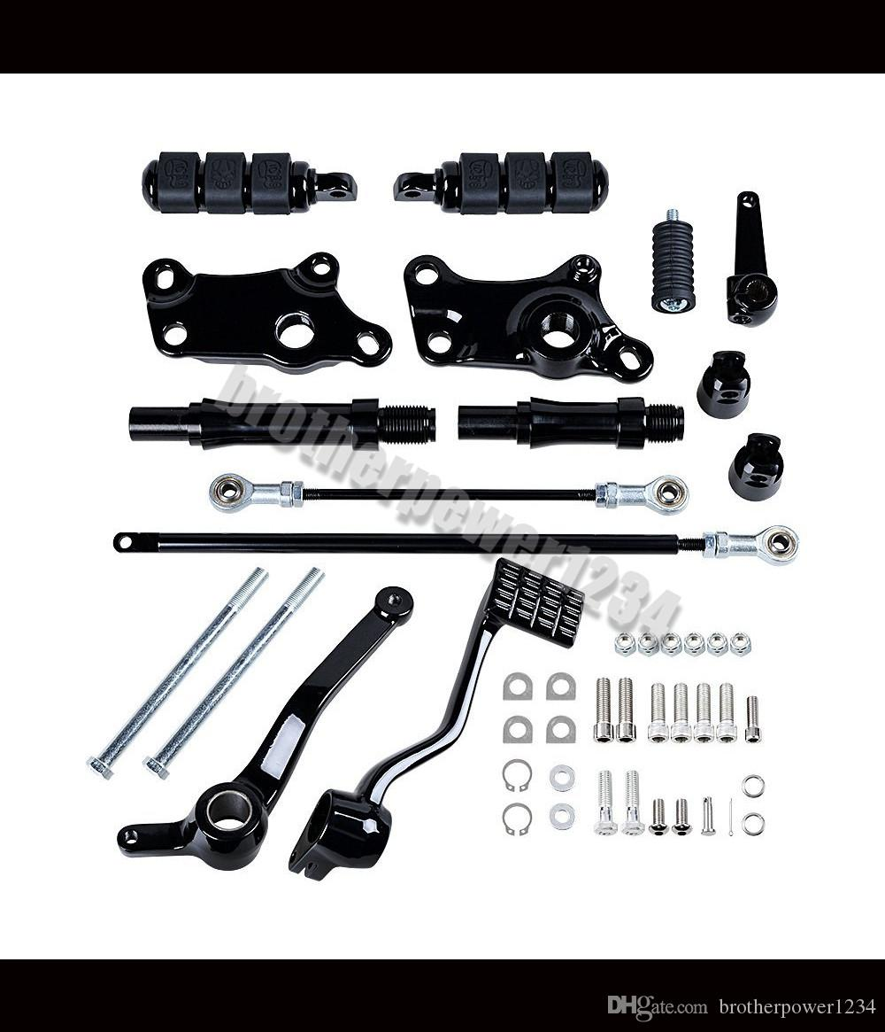 Forward Controls Foot Peg Levers Linkage Kit Mounting Accessories Compatible with 1991-2003 Harley Sportster XL883 XL1200