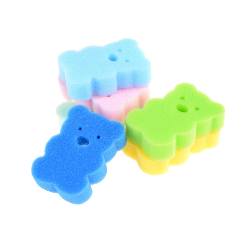 2018 Baby Kids Born Bath Brush Soft Pure Cotton Bath Foam Rub Shower ...
