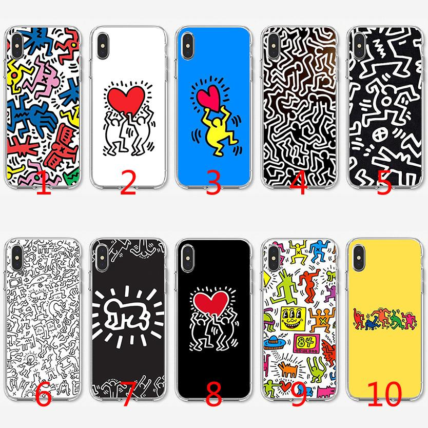 65494894108b Keith Haring Funny Soft Silicone TPU Case For IPhone X XS Max XR 8 7 Plus 6  6s Plus 5 5s SE Cover Tough Cell Phone Cases Cell Phone Case Wholesale From  ...