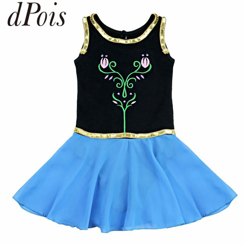DPOIS Kids Princess Ballet Tutu Dance Leotard Dress Professional Ballerina Party Girls Gymnastics Leotard Fancy Dance Costume