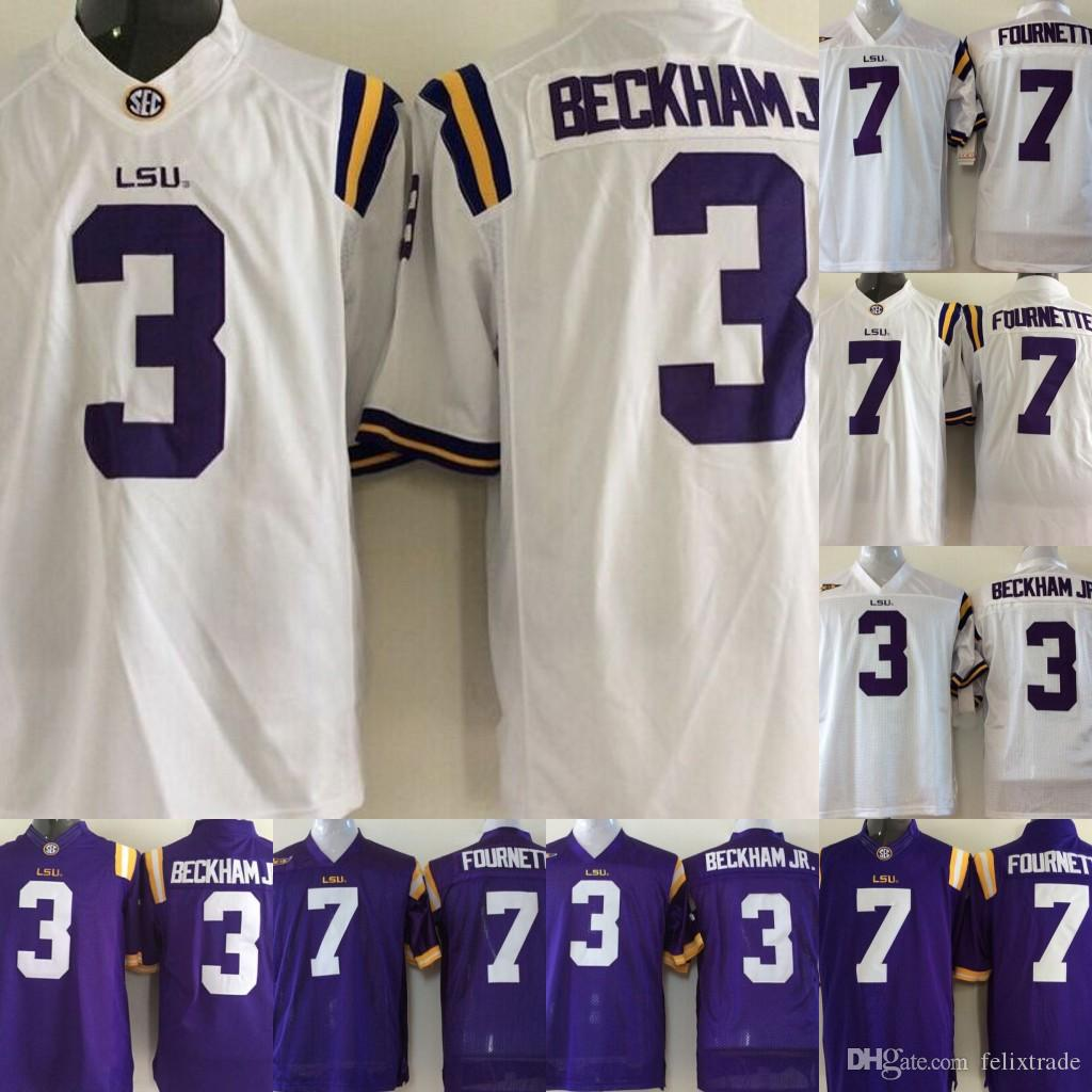 brand new 6f64b dd1c1 Youth LSU Tigers Jerseys #3 Odell Beckham Jr. 7 Leonard Fournette Youth  College Football Jerseys Purple White