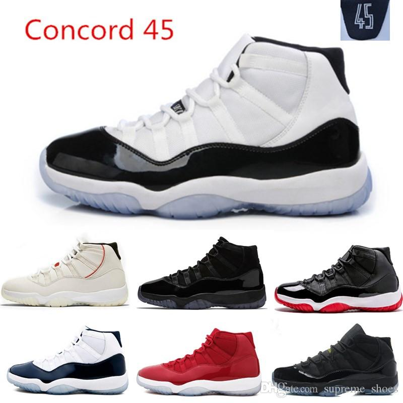 Platinum Tint Concord 45 XI 11s Cap And Gown Men Basketball Shoes 11 ... c9cfa3f0c