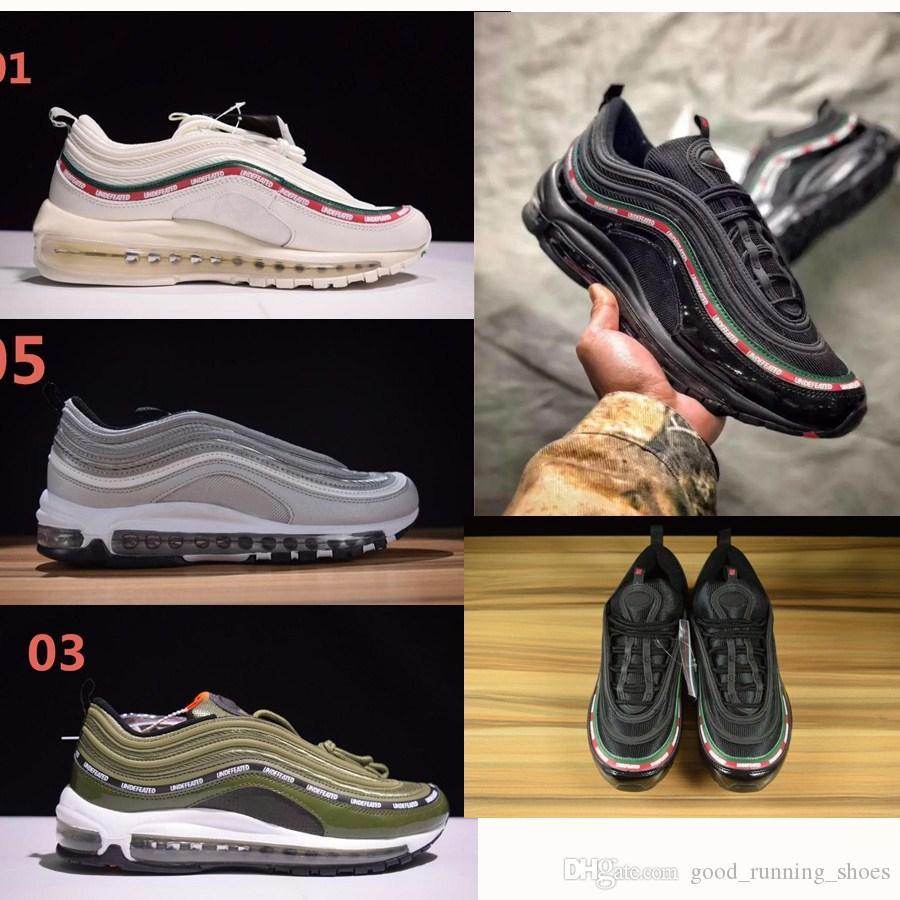 97 OG Tripel Blanco Metalizado Oro Plata Bala Mejor calidad BLANCO 3M Zapatos Premium para correr con Hombres Caja Mujeres Envío gratis Zapatos