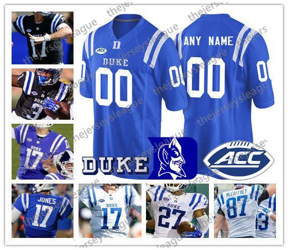 Duke Blue Devils Custom Any Name Any Number Royal Black White Good Quality  Stitched #3 T J  Rahming NCAA College Football Jerseys