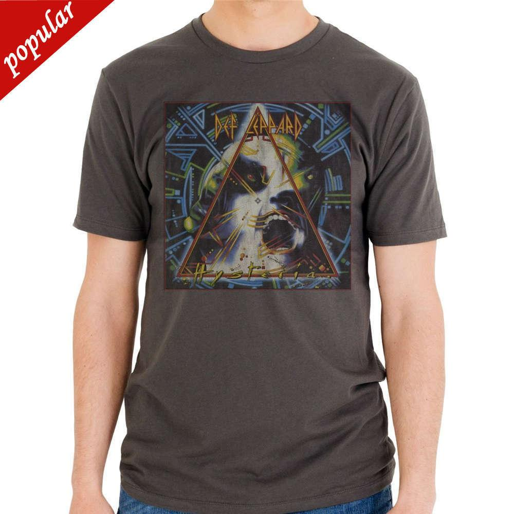 1a8eff8b 2018 New Brand Clothing Official Def Leppard Hysteria Album Record Cover T  Shirt S M L XL 2XL Top Summer Harajuku Women/Lady Cas The Who T Shirts  Online ...