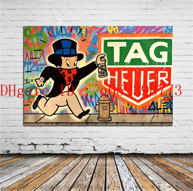 Alec Monopoly TAG Heuer ,Home Decor HD Printed Modern Art Painting on Canvas (Unframed/Framed)