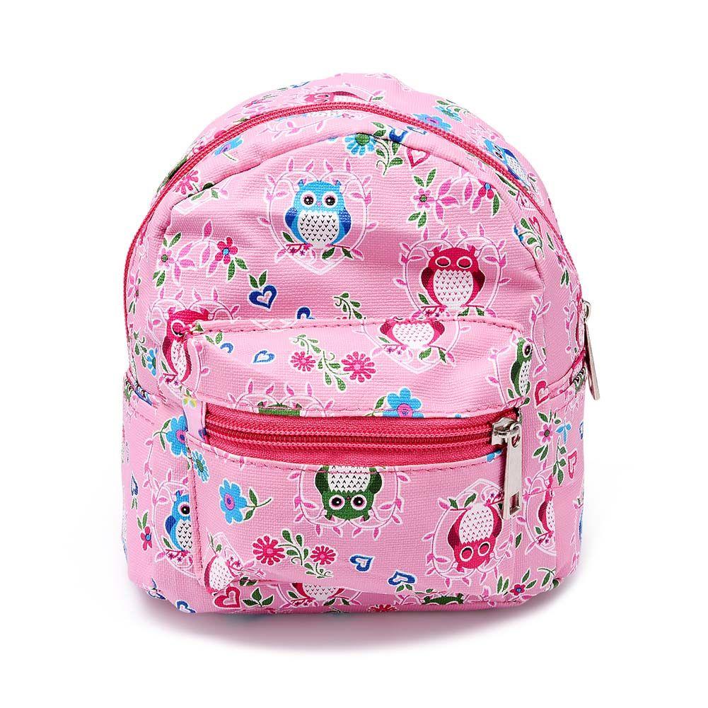 New Cute Portable Mini Backpack Shape Printed Makeup Bag Travel