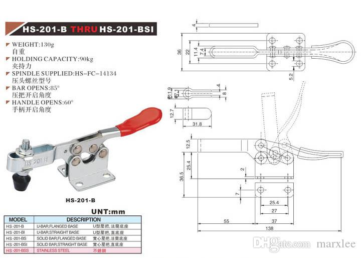 Toggle clamp HS-201B Compact Structure Clamps