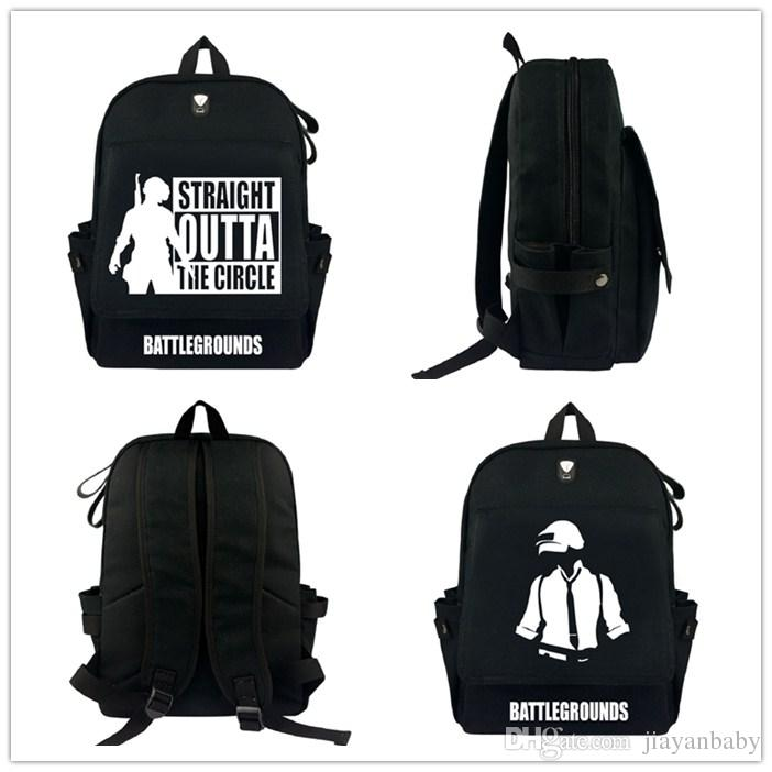 DHL free shipping Game Playerunknown's Battlegrounds PUBG Winner Chicken Dinner Backpack Boys Girls Stationery Action Toys for Kids Party