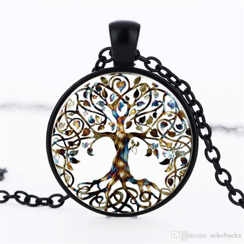 type product of number ornaments bursting wholesale collar necklace jewel stone new life tree time pendant vintage