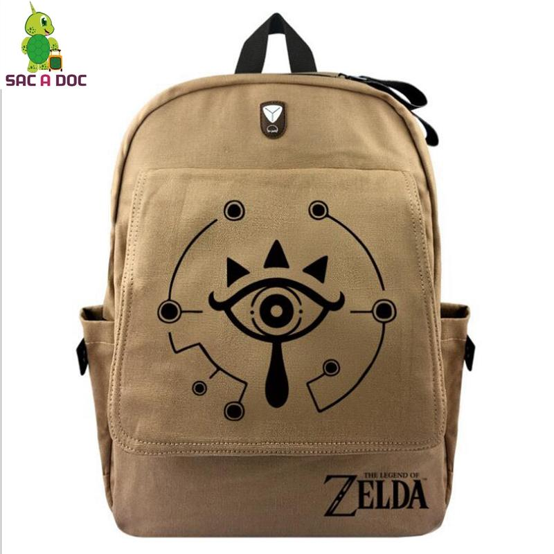 Link Backpack for Teenage Girls Boys Vintage Canvas Backpack ... 00be14b2490e8