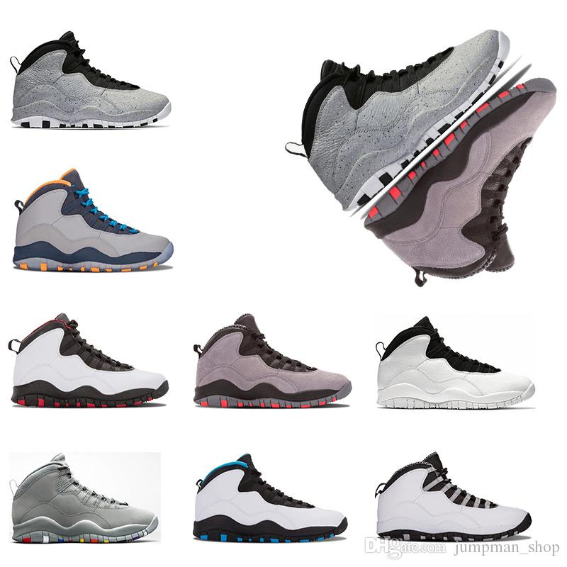 822c7f2c504255 New Cement 10 Basketball Shoes Westbrook 10s I M Back White Black Cool Grey  Bobcats Chicago Steel Grey Men 10 Sneakers Size Eur 41 47 Shoes Brands ...