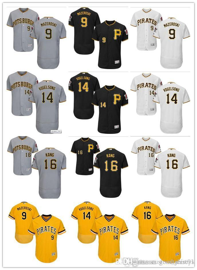 62826a9bb 2019 Custom Men Women Youth Pittsburgh Pirates Jersey  9 Bill Mazeroski 16 Jung  Ho Kang 14 Ryan Vogelsong Black Yellow Grey Baseball Jerseys From ...