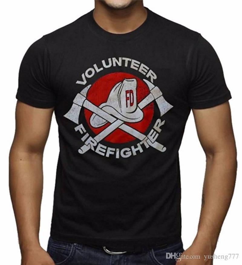 Firefighter Christmas Shirt.Personalized T Shirts Volunteer Firefighter O Neck Short Sleeve Christmas Shirt For Men