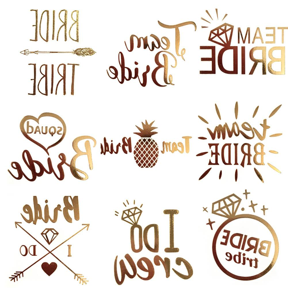 f1a5c2ef859e1 Color Random Flash Bride Tribe Temporary Tattoo Sticker Bachelor Party  Wedding Party Body Art Glitter Tattoo Decals Designs For Tattoos Fake  Tattos From ...