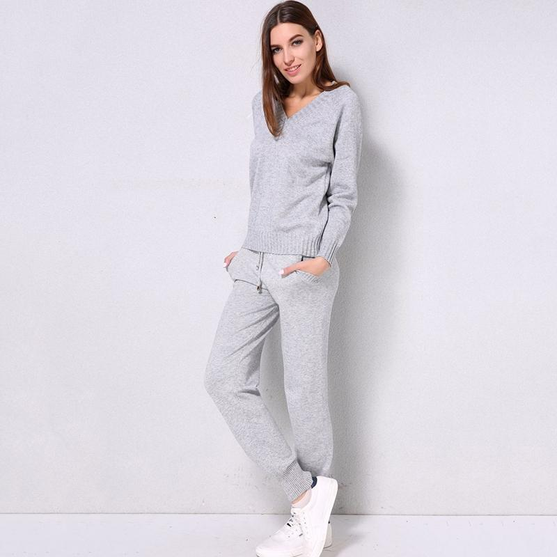 2019 Women Sweater Sets Tracksuits Autumn Casual Knitted Sweaters