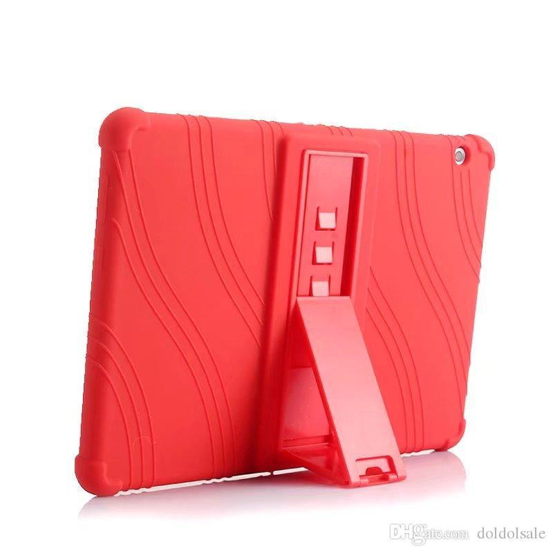 Soft Silicone Rubber TPU Back Cover for Huawei MediaPad T3 10 AGS-W09 AGS-L09 Honor Play Pad 2 9.6 inch Tablet Case with Stand