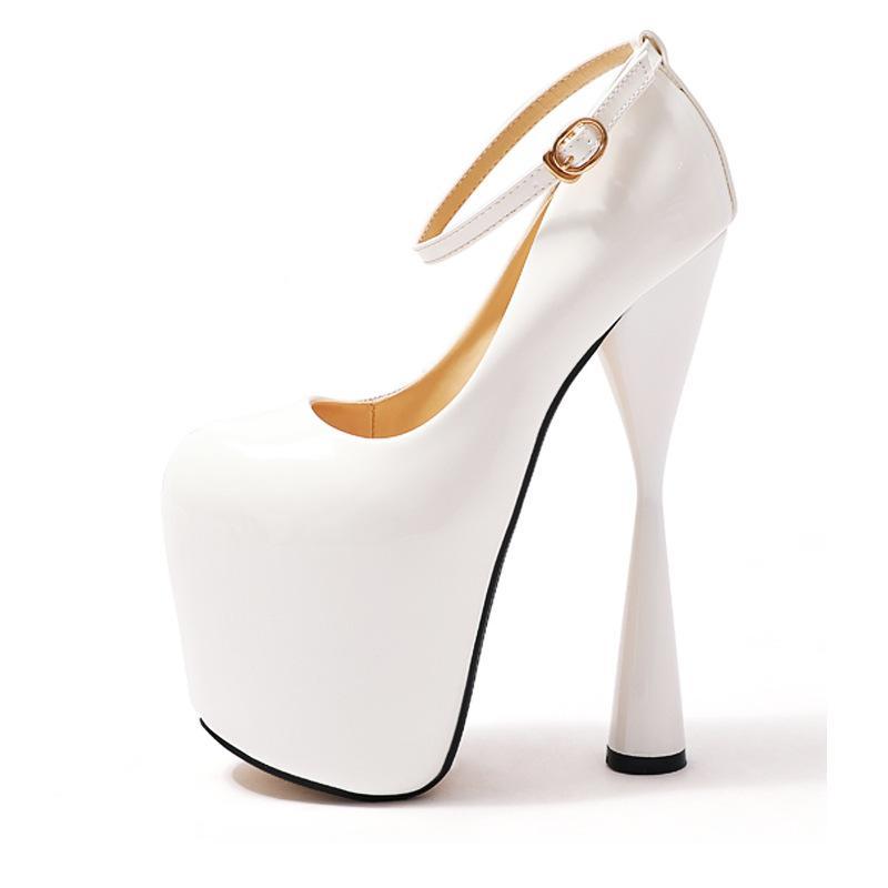 9b2565a6597 Gladiator High Heel 19cm Women Shoes Round Toe Heels White Dress Wedding Shoes  Fashion Women Party Shoes Platform Pumps 34-47 High Heels Shoes Wedding  Shoes ...