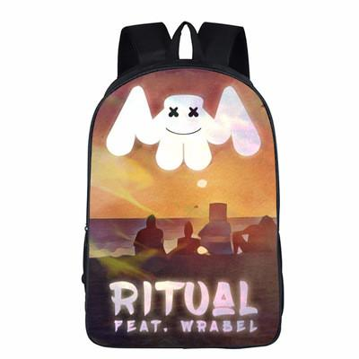 999f3fa9fe 2019 Baby School Bags New 3d Marshmello Backpack Cartoon Bag DJ Alone  Luminous Anime Oxford Schoolbag Kids Backpacks Travel Backpacks Small  Backpack From ...