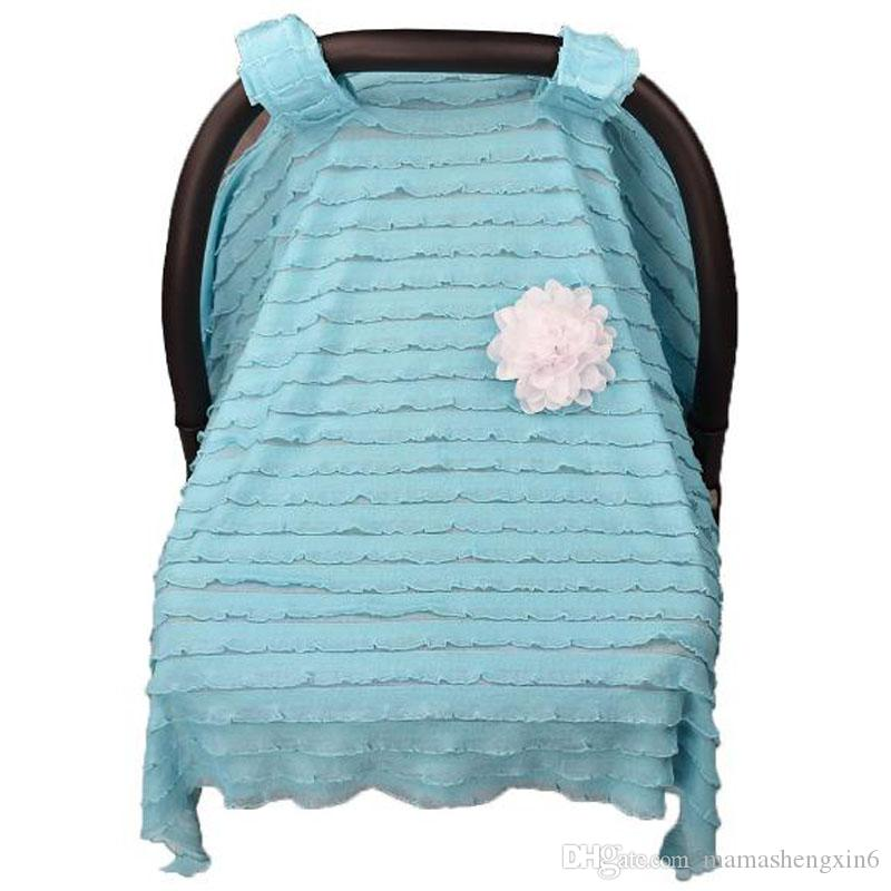 New Breathable Baby Car Lovely Flower Seat Cover Infant Car Seat Canopy Cover Sun Shade Cover Cradle Covers