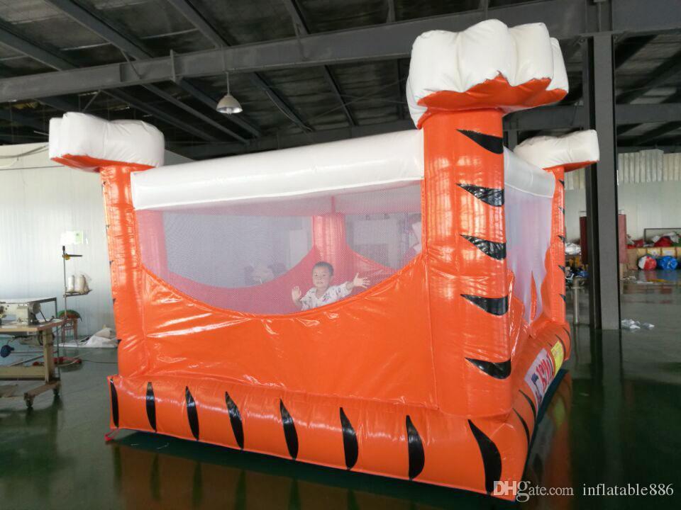 Casa inflável do salto que salta o trampolim do brinquedo do castelo usado para o divertimento interno e exterior para crianças
